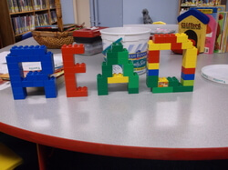 Legos that spell out READ